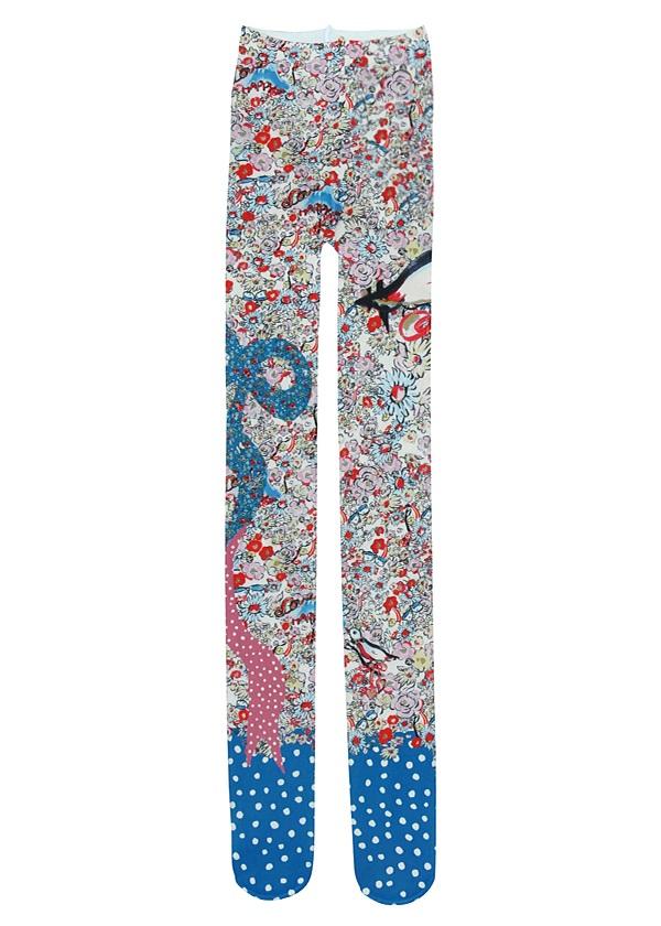 【SALE】TSUMORI CHISATO / S HAPPY BIRDSタイツ / タイツ オフ白【ファッション・アパレル レディースソックス】【TSUMORI CHISATO(ツモリチサト)】/TC71AI06702-