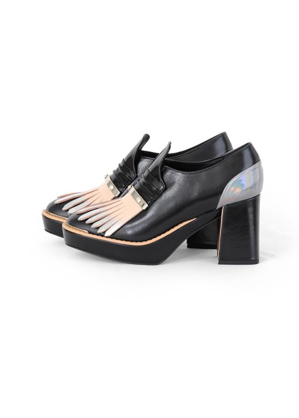 TSUMORI CHISATO / ペインタータッセル / パンプス 黒【ファッション・アパレル 靴レディースパンプス】【TSUMORI CHISATO(ツモリチサト)】/TC73AJ0162623.5