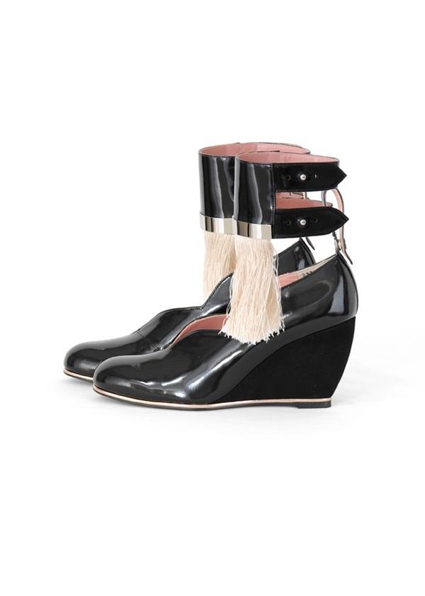 TSUMORI CHISATO / アートブラシウェッジ / パンプス 黒【ファッション・アパレル 靴レディースパンプス】【TSUMORI CHISATO(ツモリチサト)】/TC73AJ0282623.5