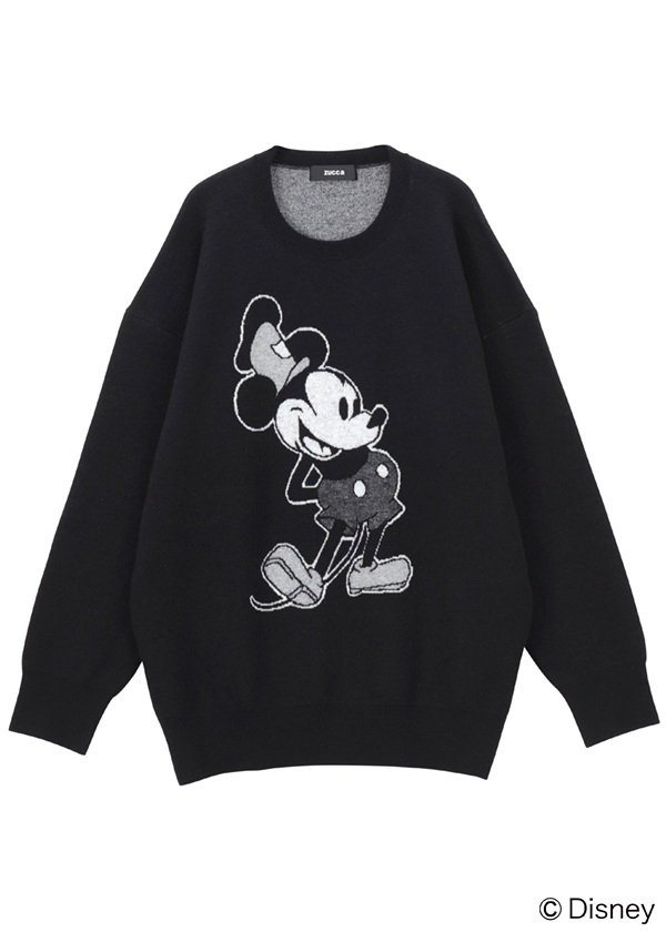 STANDING MICKEY KNIT 黒
