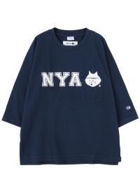 にゃーとチャンピオンのポケットTシャツ