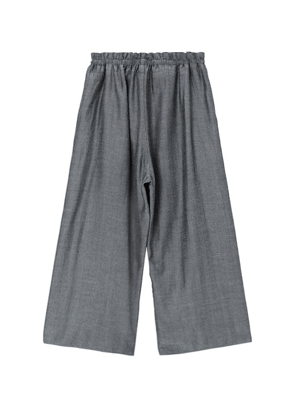 Rayon Wool Wide Pants
