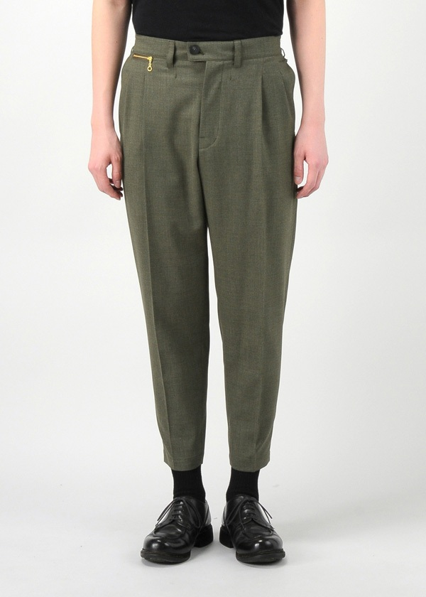 2 TUCK TAPARED CROPPED PANTS