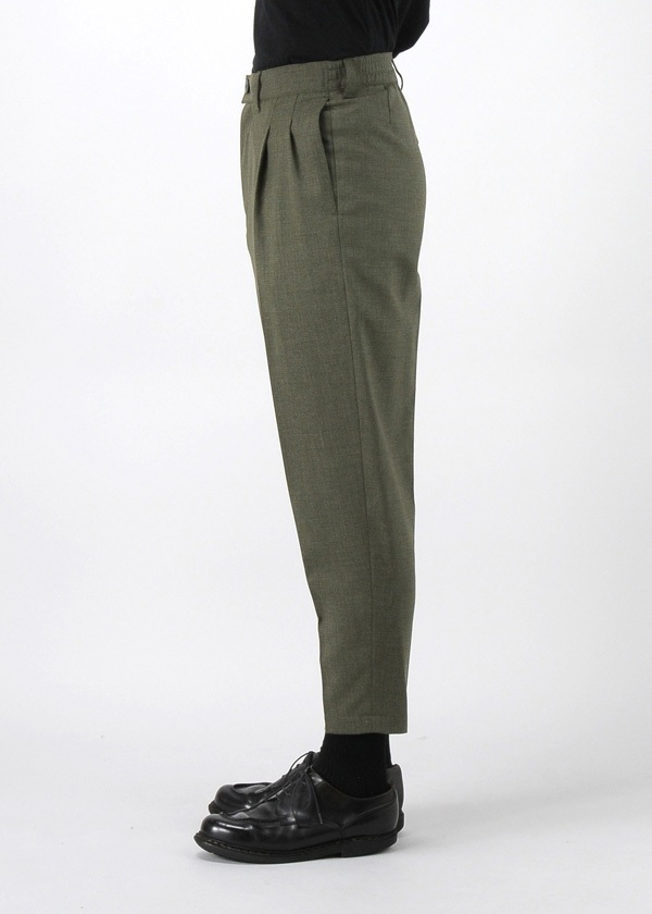 S 2 TUCK TAPARED CROPPED PANTS