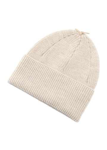 S Leather Strap Knit cap