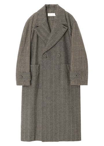 S Asymmetry Sleeve Coat