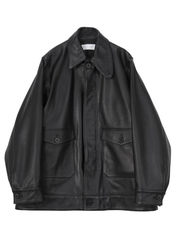 Asymmetry Collar Leather Jacket