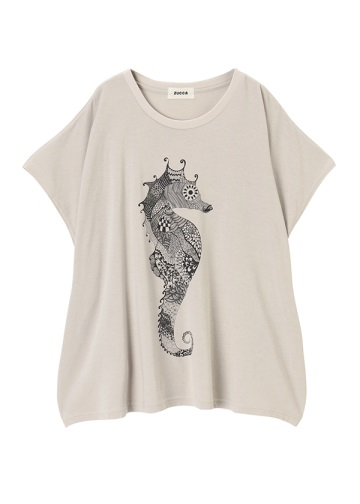 ZUCCa / P Seahorse T / Tシャツ