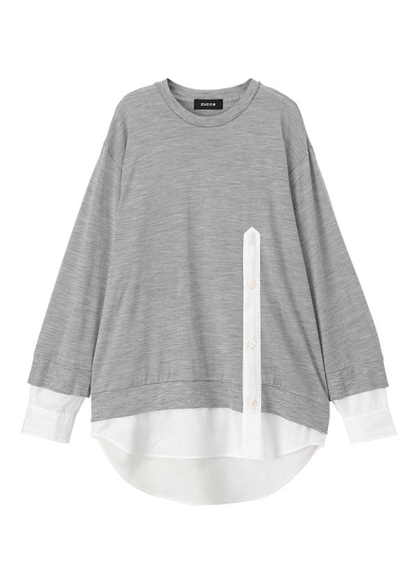 ZUCCa / メンズ ドッキングシャツ / シャツ シルバーグレー
