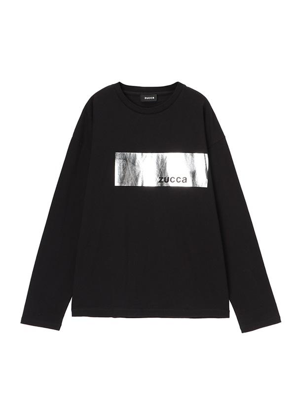 ZUCCa / メンズ メタリックT / Tシャツ 黒