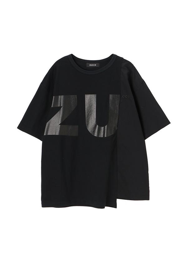 ZUCCa / メンズ コントラストロゴT / Tシャツ 黒