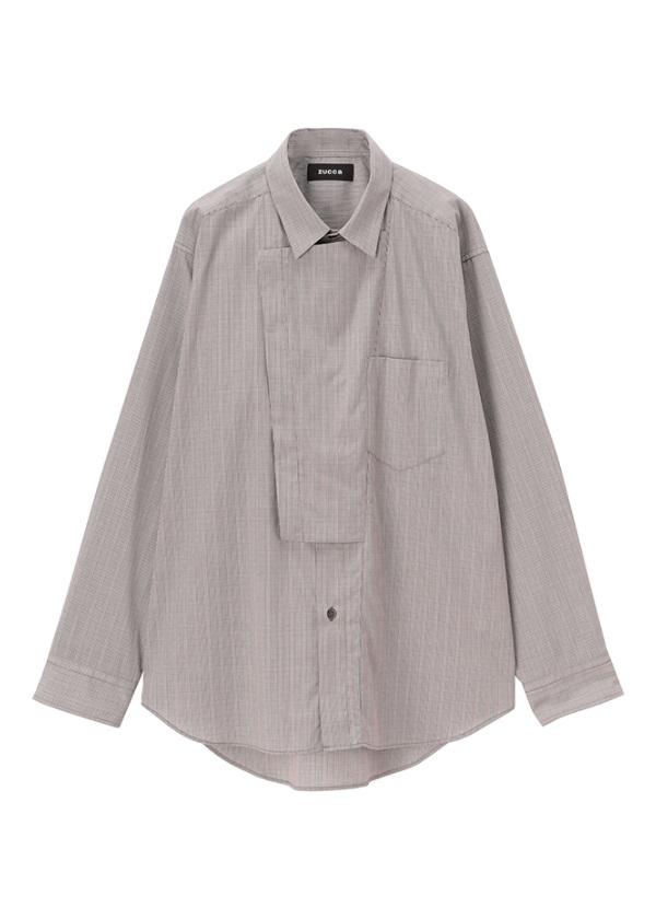 ZUCCa / メンズ ダブルブラケットシャツ / シャツ ダークブラウン