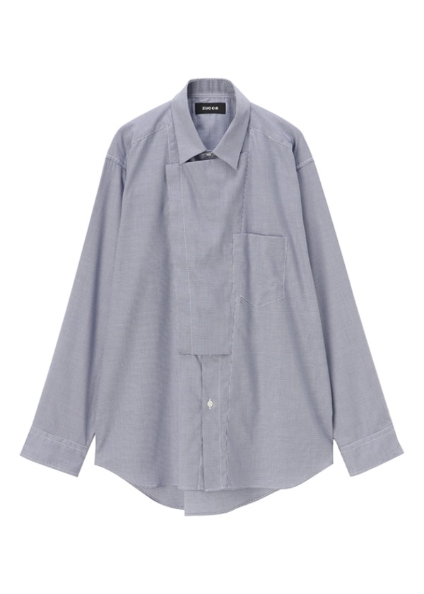 ZUCCa / メンズ ダブルブラケットシャツ / シャツ ネイビー