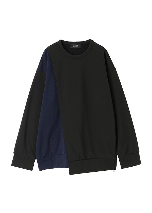ZUCCa / メンズ PE裏毛 / プルオーバー 黒