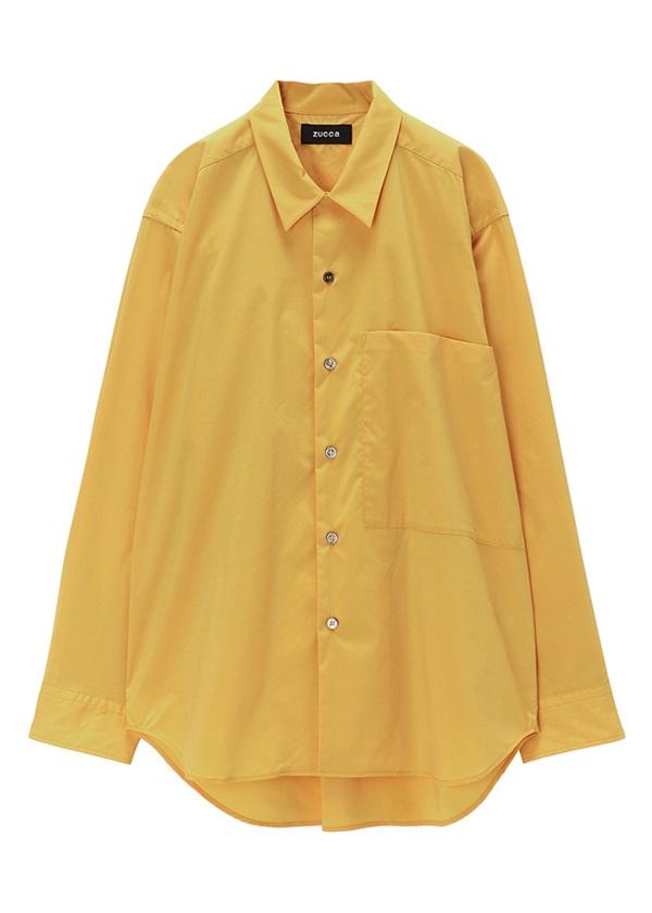 【SALE】ZUCCa / (O) メンズ PEカラーシャツ / シャツ イエロー