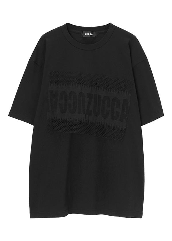 ZUCCa / メンズ ロゴレースジャージィー / Tシャツ 黒