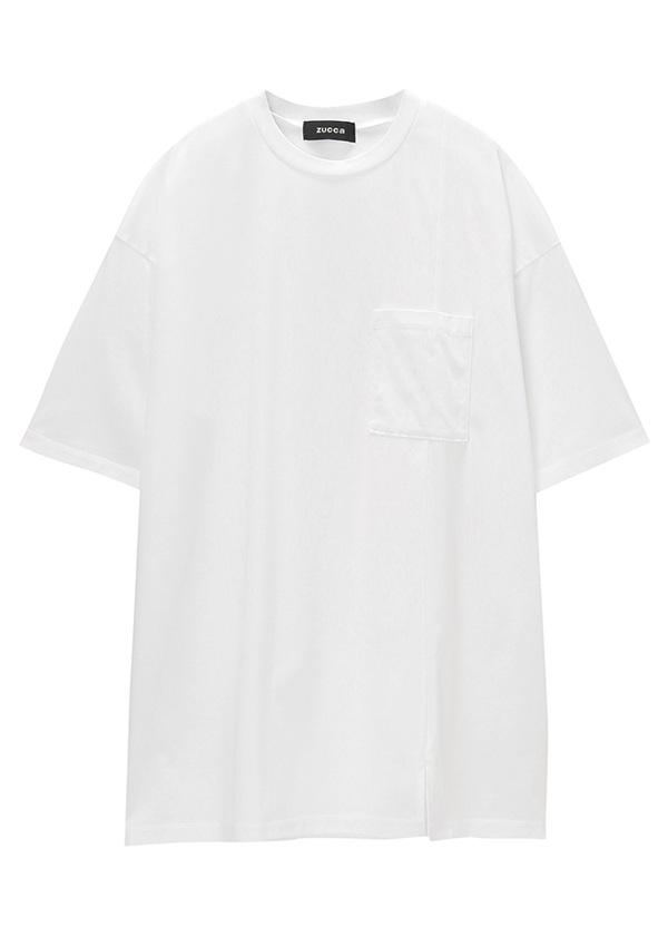 ZUCCa / メンズ コットンクリアジャージィー / Tシャツ 白
