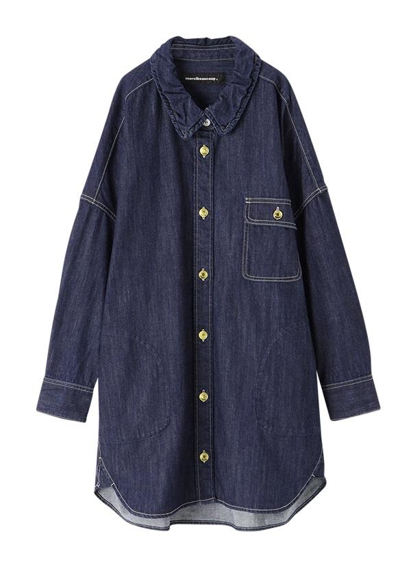 メルシーボークー、 / L:デニBIGシャツ / 羽織り ネイビー