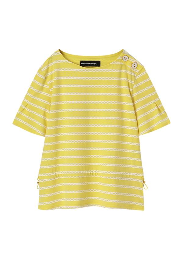 メルシーボークー、 / しまチェーン / カットソー・Tシャツ イエロー