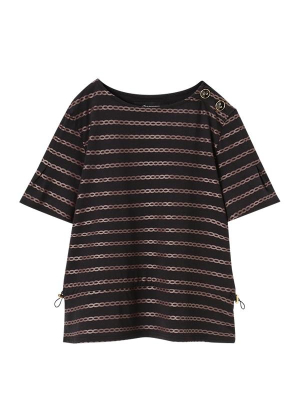 メルシーボークー、 / しまチェーン / カットソー・Tシャツ 黒