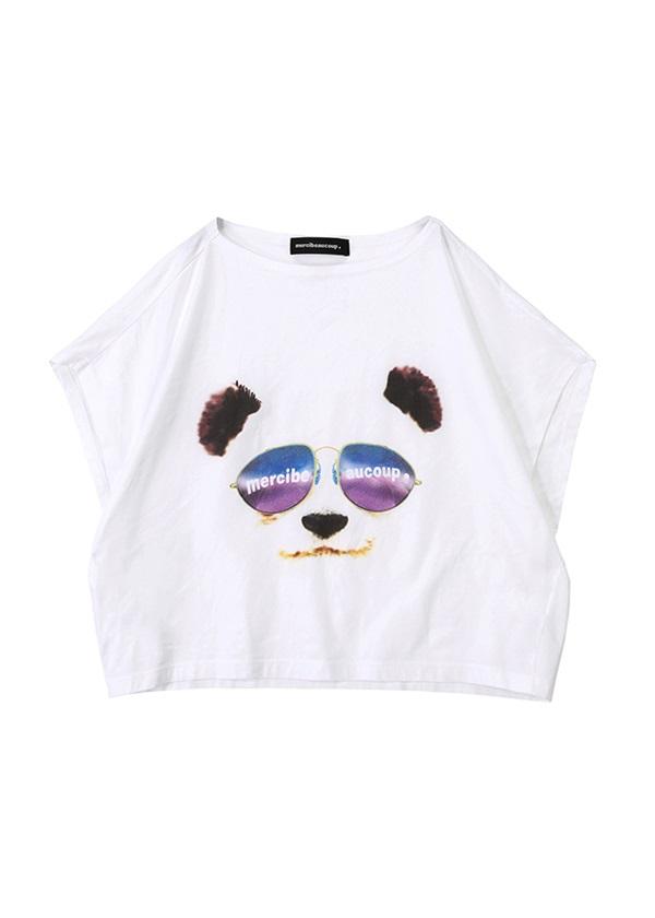 メルシーボークー、 / S:グラサンパンダティー/ Tシャツ 白