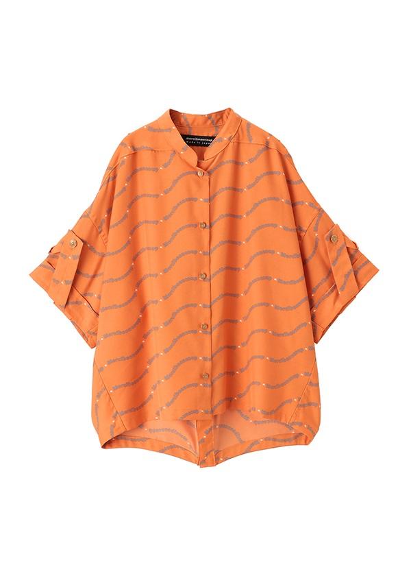 メルシーボークー、 / ガレットフ / ブラウス オレンジ / レンガ