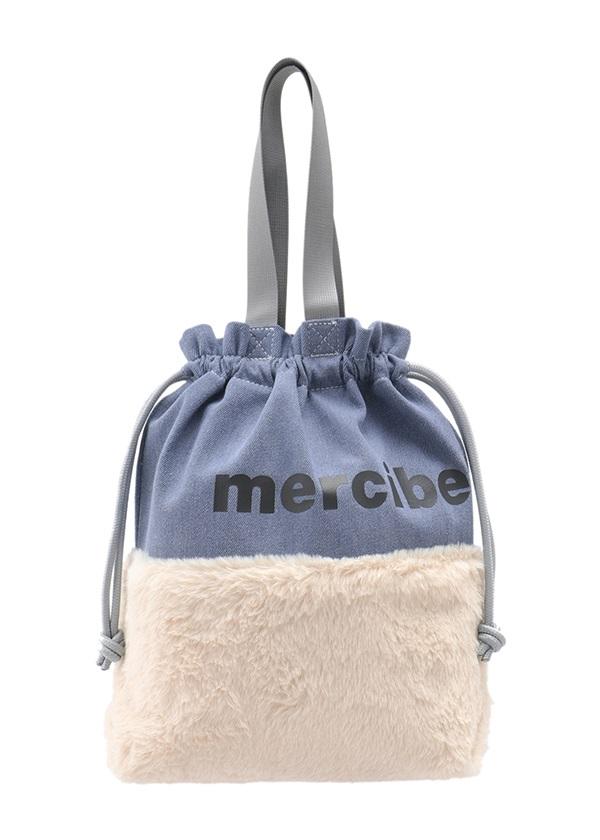 【SALE】メルシーボークー、 / S デニファー巾着 / バッグ ブルー