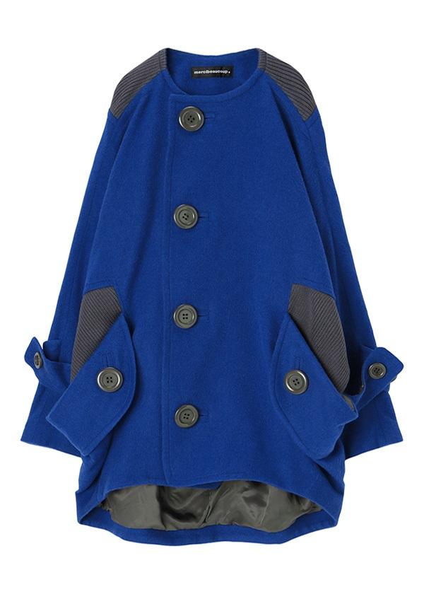 メルシーボークー、 / メルシーウールコート / コート ブルー