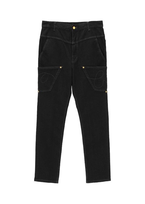 メルシーボークー、 / うしろまえデニム スリムフィット / パンツ 黒