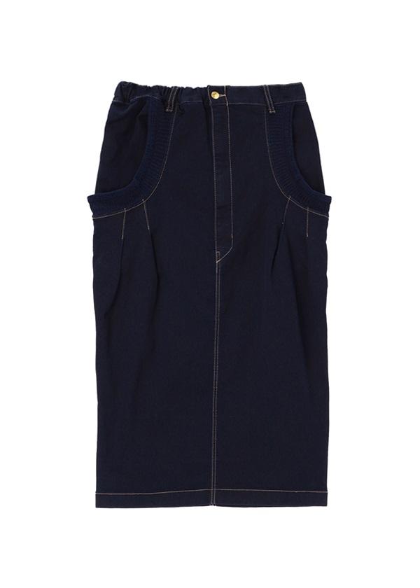 メルシーボークー、 / B:あみリブデニム / スカート ネイビー