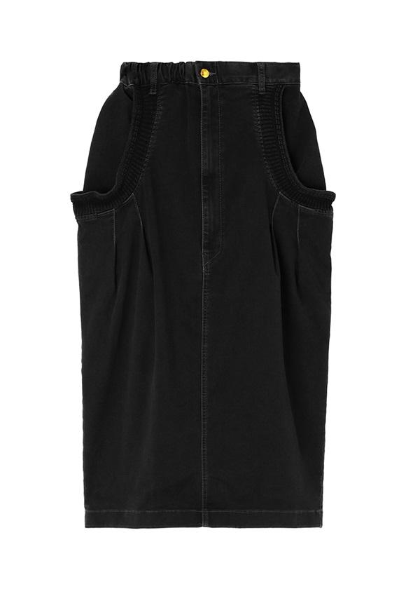 メルシーボークー、 / B:あみリブデニム / スカート チャコールグレー