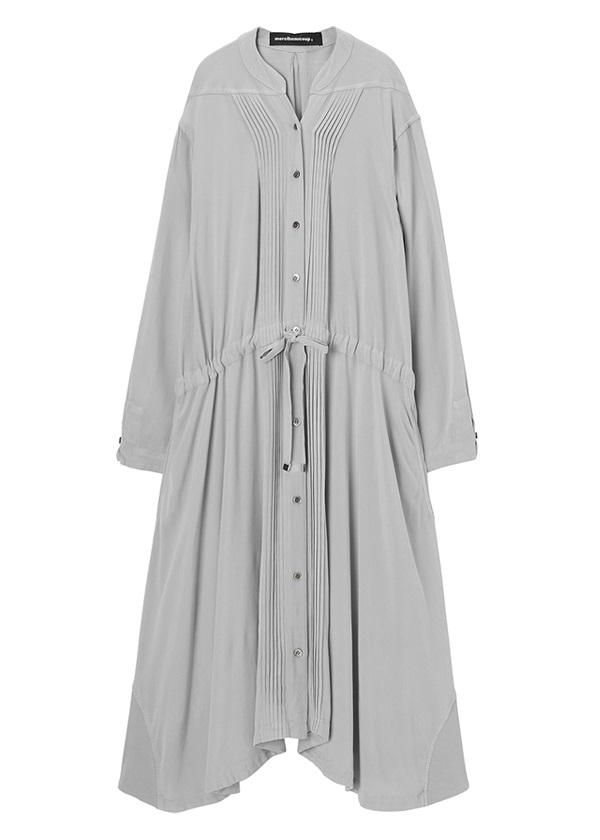 メルシーボークー、 / S : ムジシャツ / ワンピース シルバーグレー