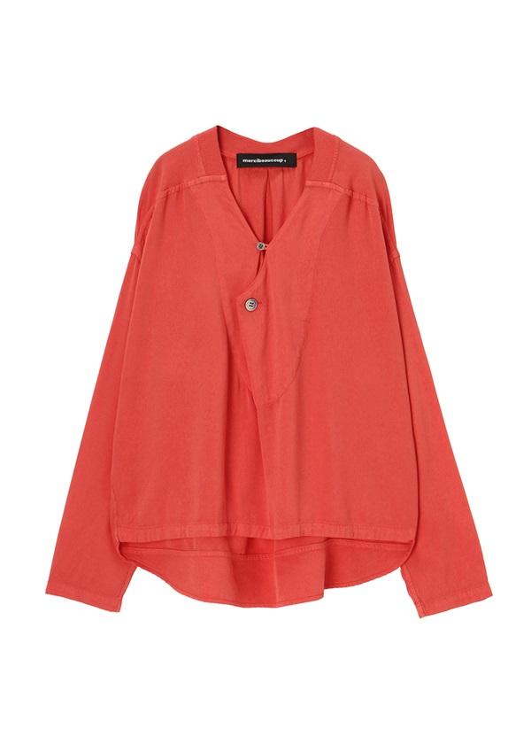 メルシーボークー、 / S : ムジシャツ / シャツ オレンジ / レンガ