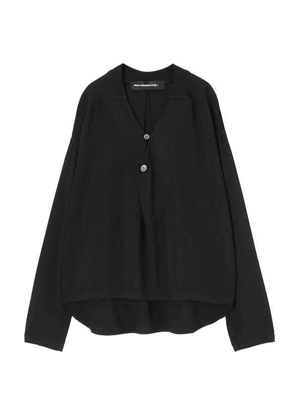 メルシーボークー、 / S : ムジシャツ / シャツ 黒