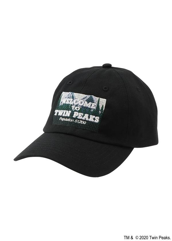 ネ・ネット / TP WELCOME TO TWINPEAKS CAP / キャップ 黒
