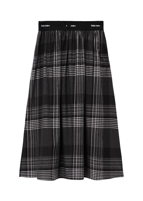 ネ・ネット / pickable pleats / スカート チャコールグレー