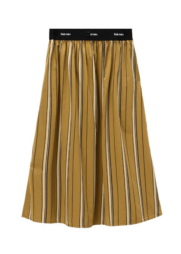 ネ・ネット / pickable pleats / スカート キャメル