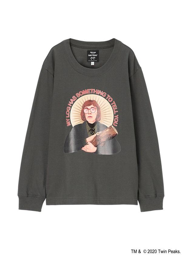 ネ・ネット / TP log-lady T / Tシャツ チャコールグレー
