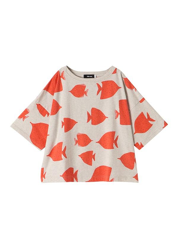 ネ・ネット / fish T / Tシャツ ベージュ