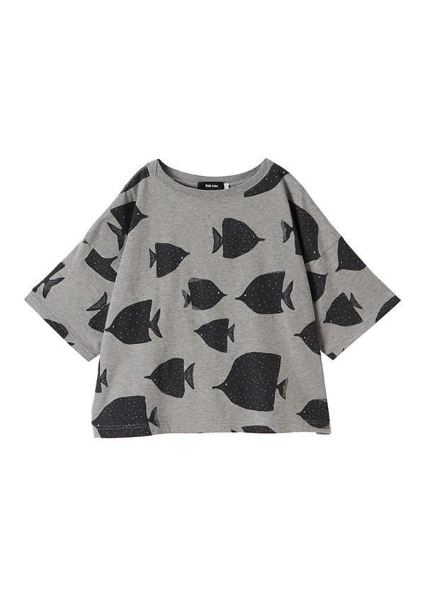 ネ・ネット / fish T / Tシャツ グレー