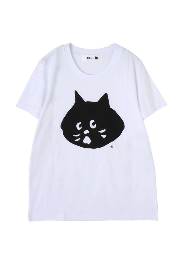 にゃー / にゃー T / Tシャツ 白