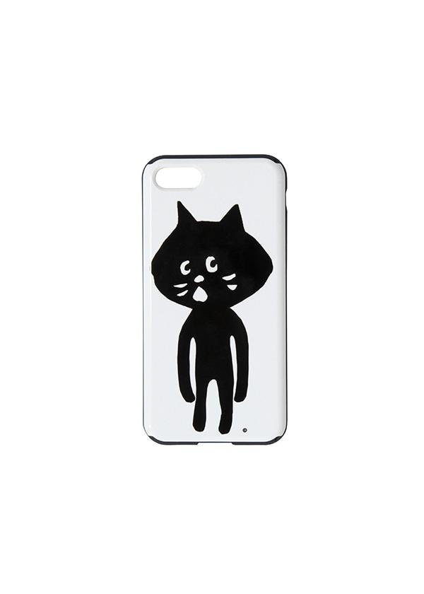 にゃー / GF にゃーミラーPhoneケース / スマホケース 白