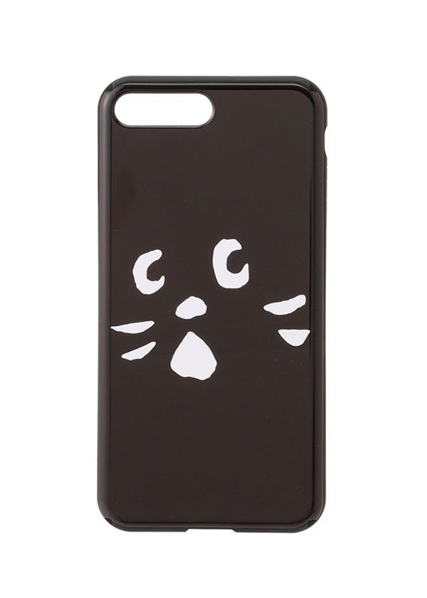 にゃー / GF アップにゃーミラーPhoneケース / スマホケース 黒