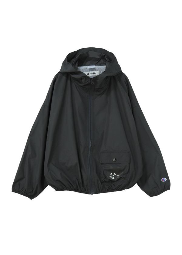 【SALE】にゃー / S にゃーとChampion / ジャケット 黒