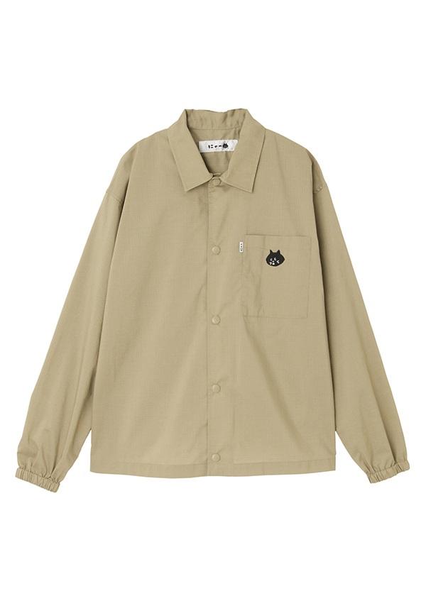 【SALE】にゃー / (O) にゃーリップシャツアウター / シャツ ベージュ