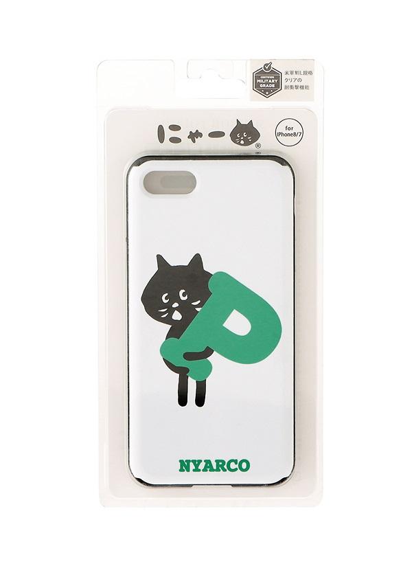 にゃー / (☆)渋谷PにゃーミラーPhoneケース / スマホケース 白