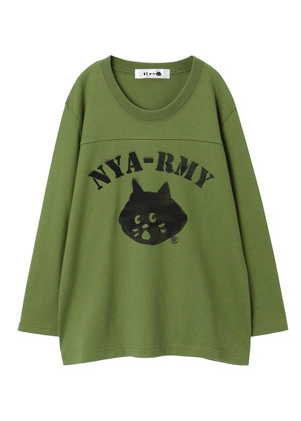 にゃー / NYA-RMY T / Tシャツ カーキ