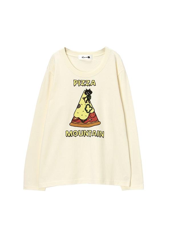 にゃー / PIZZA MOUNTAINにゃーT / Tシャツ オフ白