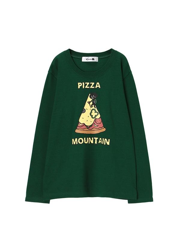 にゃー / PIZZA MOUNTAINにゃーT / Tシャツ グリーン