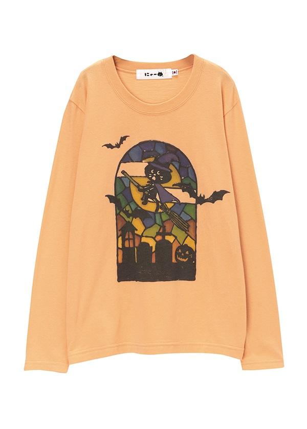 にゃー / 月とにゃーT / Tシャツ オレンジ / レンガ